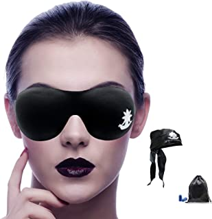 SEVEN CHAKRAS 3D Sleep Mask Eye Shade - Sleeping Eye Mask for Women Men - Blindfold for Travel, Light Blocking Mask - Comfortable and Lightweight with Ear Plugs & Silk Pouch