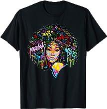 Beautiful Black Girl Magic T-Shirt Curly Hair Gift For Girl