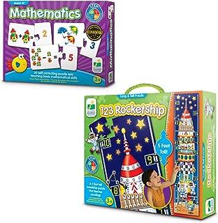 Learning Journey International LLC Match It Mathematics and Long & Tall Puzzle - 123 Rocketship Bundle