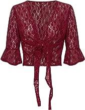 Shelikes Womens Ladies Floral Sequin Bolero Shiny Plus Size Shrug UK 12-26