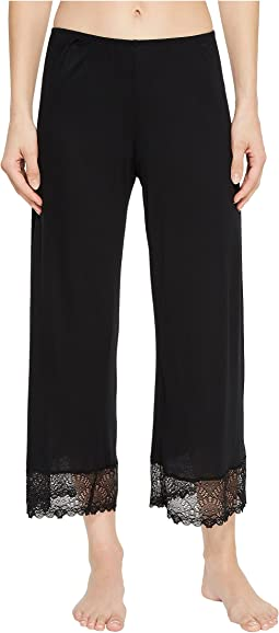 Venice Cropped Pants w/ Lace Hem