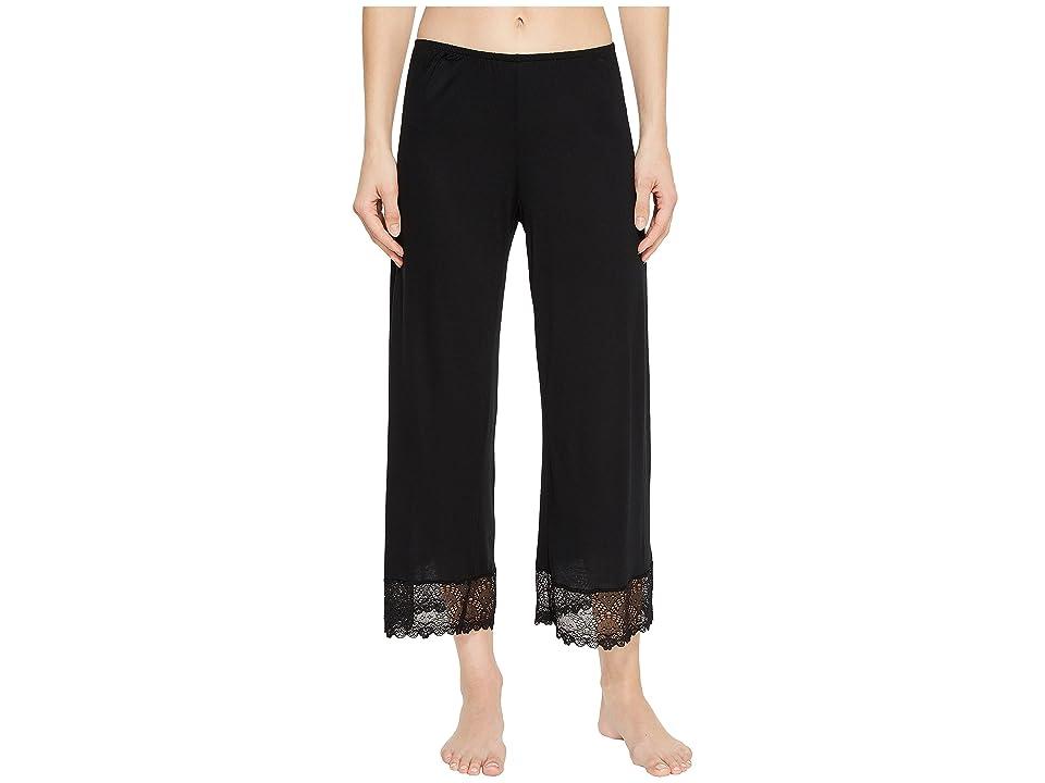 Only Hearts Venice Cropped Pants w/ Lace Hem (Black) Women