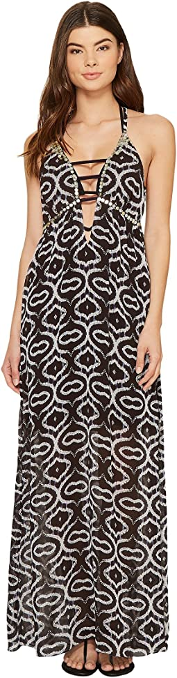 La Plage by Nicole Miller Mirrored Shibori Viscose GGT Dress