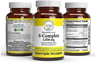 DNA Light Whole Food Super Vitamin B Complex Supplement with Vitamins B1, B2, B3, B5, B6, Folate, B12, Biotin - Calms Nerv...