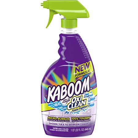 Amazon Com Kaboom Shower Tub Tile Cleaner With Oxi Clean 32 Oz Pack Of 2 Health Personal Care