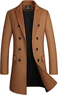 Joe Wenko Girls Big Classic Wool-Blend Embroidery Outwear Pea Coat Jacket