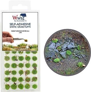 Krigsvärld scener självhäftande statisk gräs tuft x 100 – skogsmarkskydd, 2 mm – modell järnväg krigslam sceneri järnväg m...