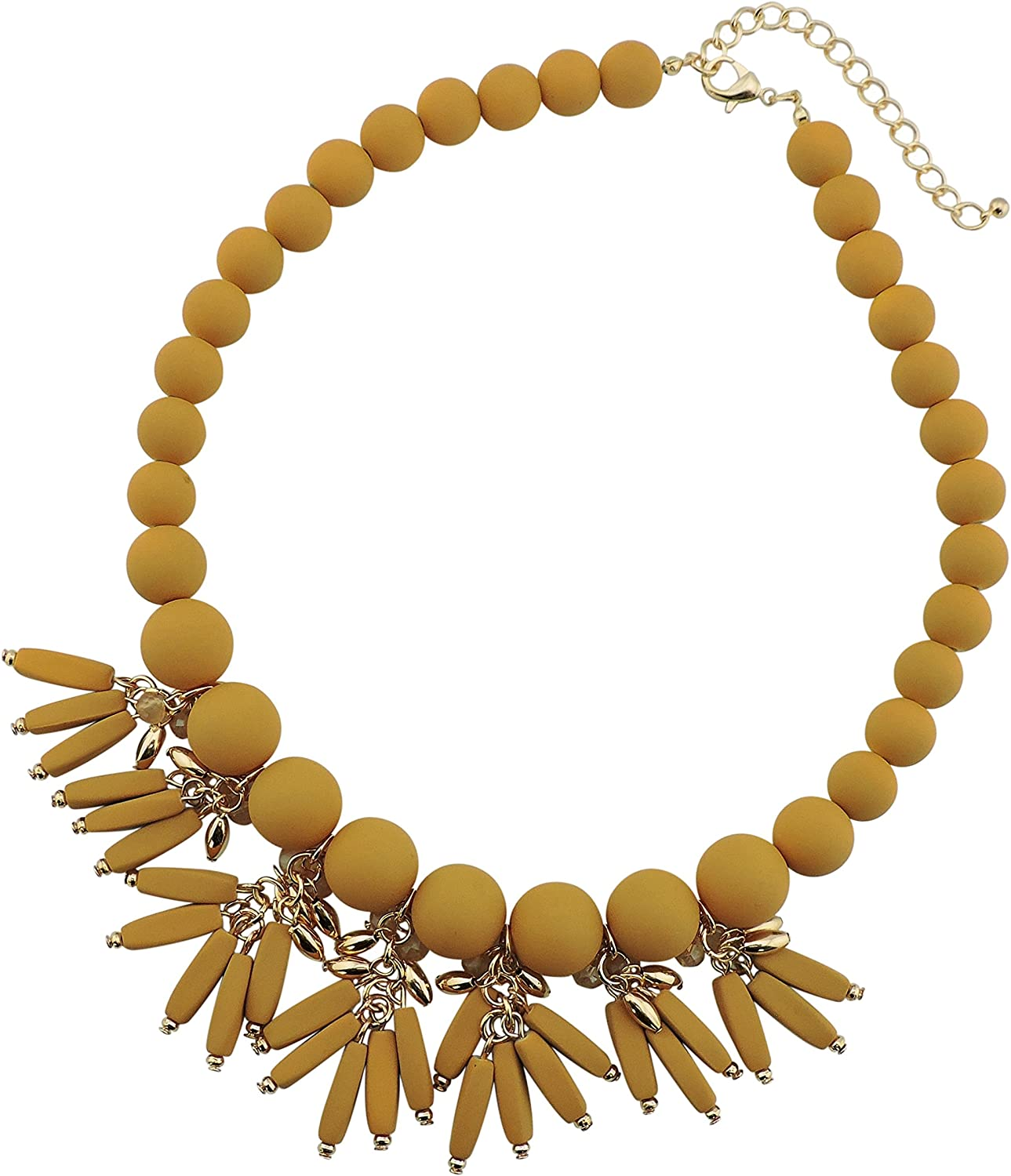 Bocar Statement Collar Necklace with Pendant 18.5