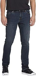 Volcom Men's 2x4 Skinny Fit Jeans Medium Blue Wash 34x30