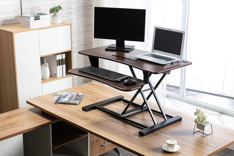 Legend Year-end gift Vansen supreme TB36-Walnut Walnut Standing Height Adjustable Desk