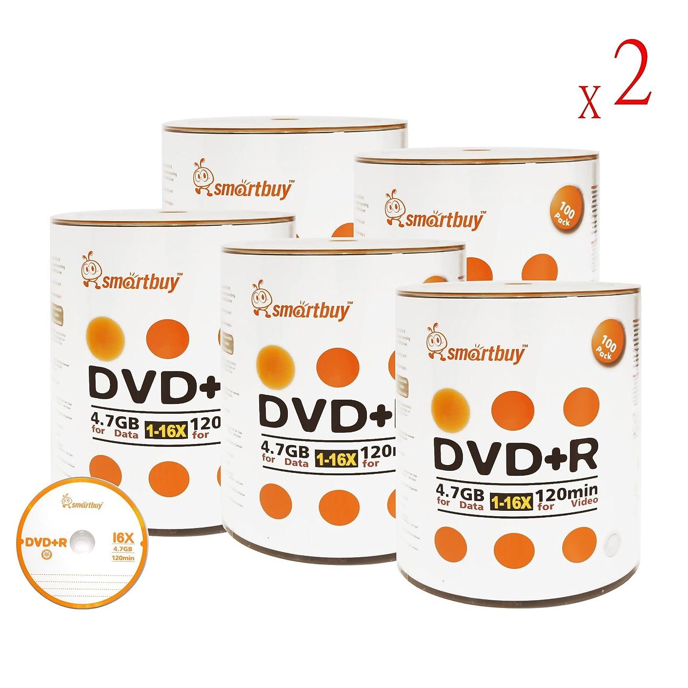 Smartbuy 4.7gb/120min 16x DVD+R Logo Top Blank Data Video Recordable Media Disc (1000-Disc)