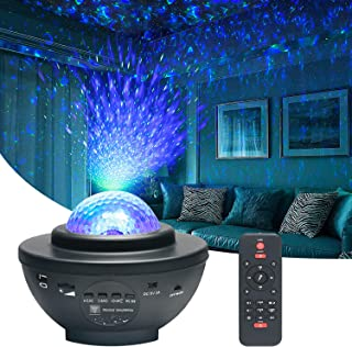 Projecteur Ciel Etoile, Roysmart LED Veilleuse Enfant Led Lampe Projecteur Étoile de Rotatif Nuage, Bluetooth/Télécommand...