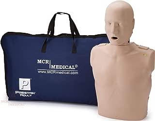 PRESTAN PP-AM-100M-MS Professional Adult CPR-AED Training Manikin with CPR Monitor, Medium Skin, MCR Medical