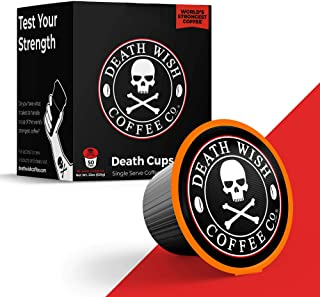 DEATH WISH Death Cups [50 Count] Single Serve Coffee Pods, World's Strongest Coffee,..