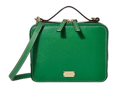 Frances Valentine Birdie Box Bag (Green) Cross Body Handbags