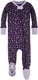 Baby Girls, Sleeper Pajamas, Zip Front Non-Slip Footed...