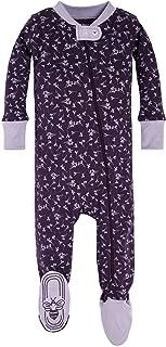 Burt's Bees Baby – Baby Girls Sleeper Pajamas, Zip Front Non-Slip Footed..