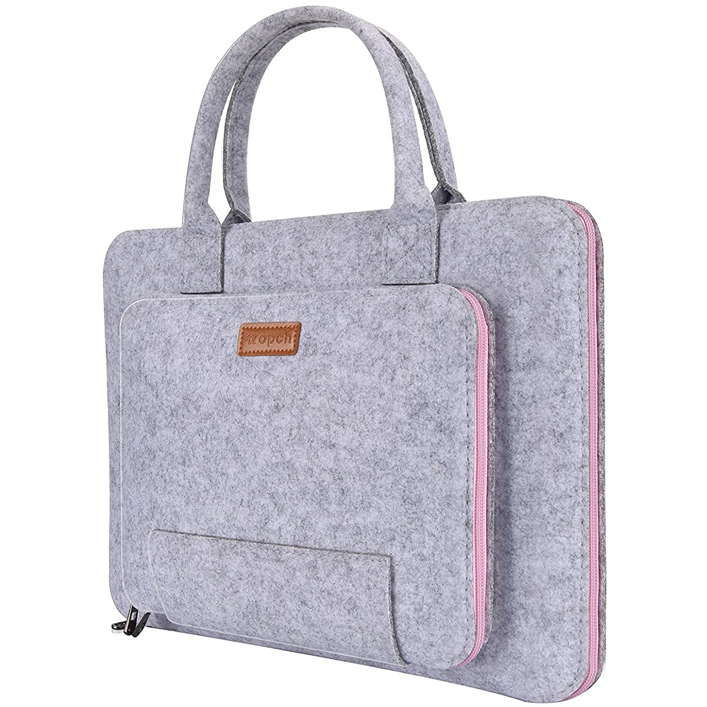 Ropch 15.6 Inch Laptop Sleeve Felt Notebook Computer Case Bag Pouch with Handle Compatible with 15 15.6