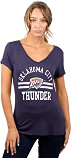 UNK NBA Women's T-Shirt V-Neck Relaxed Short Sleeve Tee Shirt, Team Color