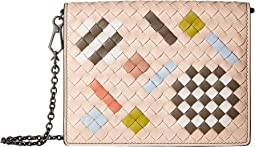 Intrecciato Abstract Crossbody Wallet