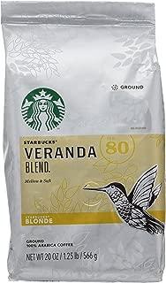 Starbucks Veranda Blend Coffee, Ground, 20-Ounce Bags (Pack of 6)