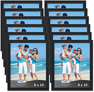 Icona Bay 8x10 Picture Frames (12 Pack, Black) Picture Frame Set, Wall Mount or Table Top, Set of 12 Inspirations Collection