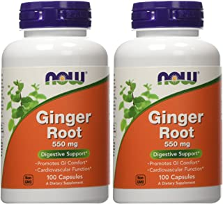 Ginger Root 550mg 100 Capsules (Pack of 2)