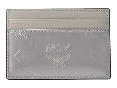 MCM Monogrammed Patent Card Case Mini (Grey) Coin Purse