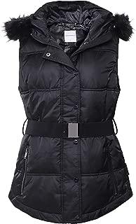 Rino and Pelle Women's Sysa Faux Fur Trim Gilet Black
