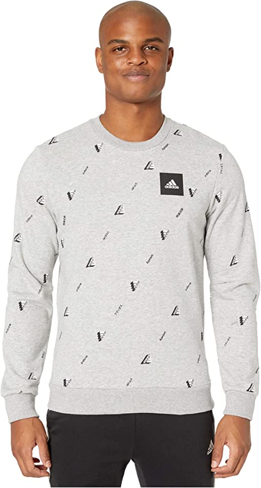 Medium Grey Heather/White/Black