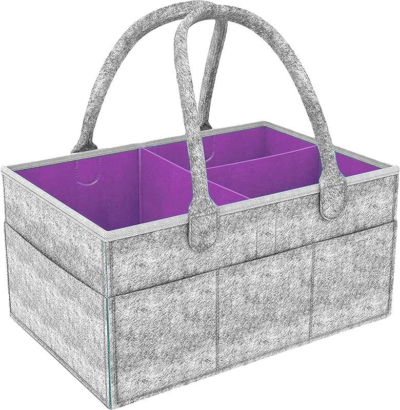 ShiyiUP Baby Diaper Caddy Organizer Basket Tote Bag Nursery Storage