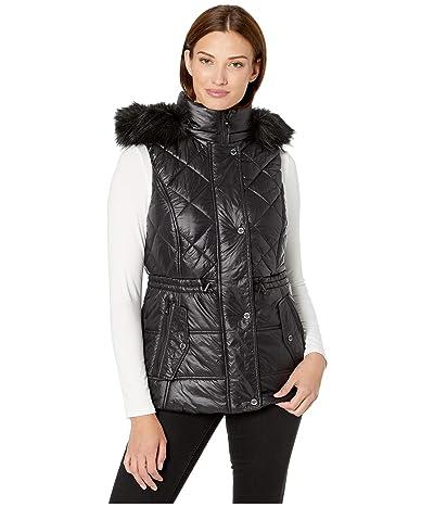 MICHAEL Michael Kors Active Vest with Faux Fur Trim Hood A421030TZ (Black) Women