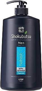 SHOKUBUTSU Men Body Foam, 900ml, Refresh