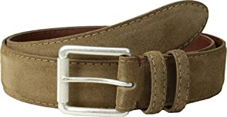 Torino Leather Co. Men's 38MM Italian Calf Suede Whiskey Belt