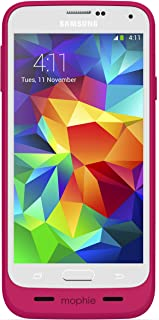 mophie 2334 Juice Pack External Recharagable Cell Phone Battery Case for Samsung Galaxy S5 (3,000 mAh) - Pink