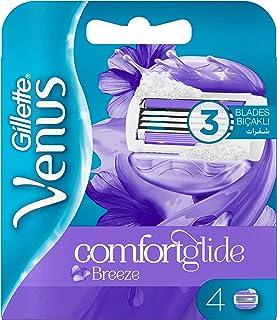شفرات حلاقة بديلة لماكينة ازالة الشعر فينوس بريز المرنة للنساء من جيليت، عدد 4