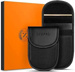 Car Key Signal Blocker Case, ZTXPRO Faraday Pouch for Blocking Keyless Entry Fob Guard Anti-Theft RFID/NFC Blocking PU Leather Pocket Size - Black(2 Pack)