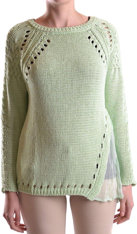 abeb6b64f0 TwinSet Women's Green Cotton Sweater MCBI17706 nrxjwu3133-New Clothing
