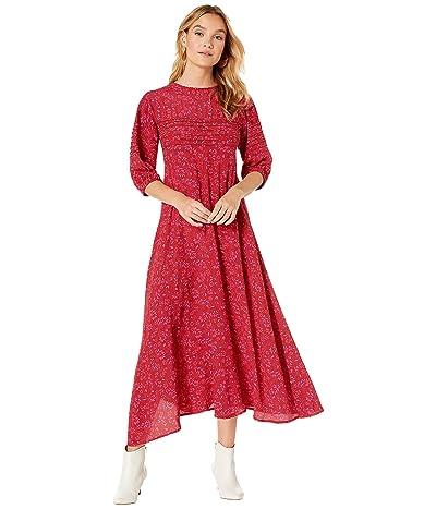 Free People Jessie Midi Dress (Red) Women