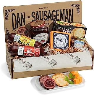 Dan the Sauasgeman Skandia Gourmet Gift Box -featuring Smoked Summer Sausages, Wisconsin Cheeses, and Scandinavian Lingonb...