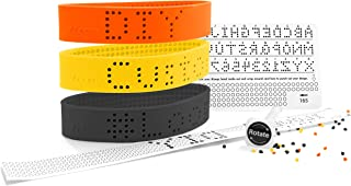Hashtag Loops Customizable Silicone Rubber Bracelets - Easy DIY Custom Bracelet/Silicone Rubber Wristbands for Adults, Kids, Children, Men & Women - Silicone Wristband Makes Great Gift/Party Favor