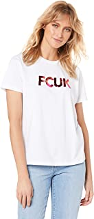 French Connection Women's FCUK Sequined Logo TEE