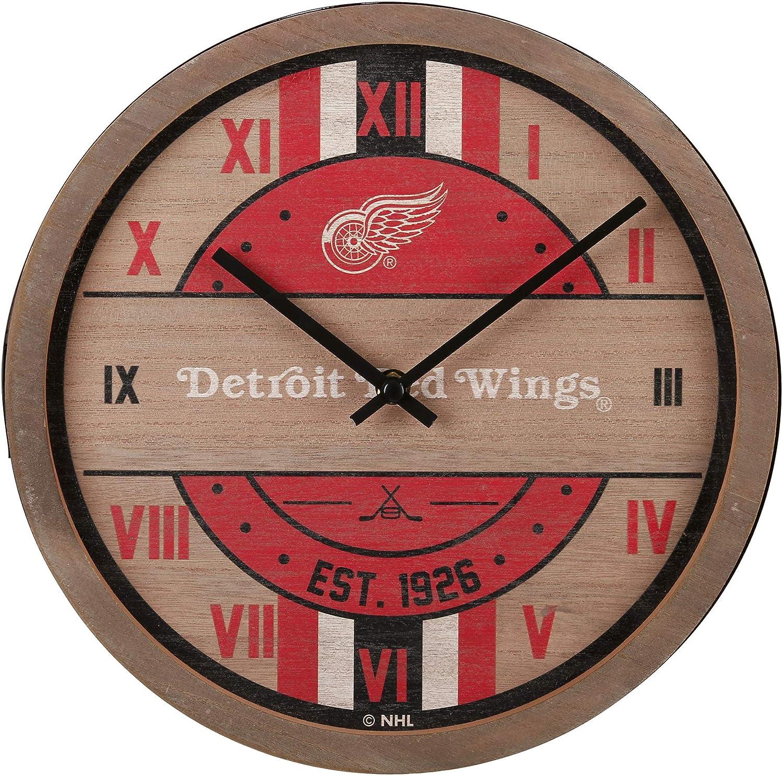 FOCO NHL Wooden Clock Wall Barrel Department store security
