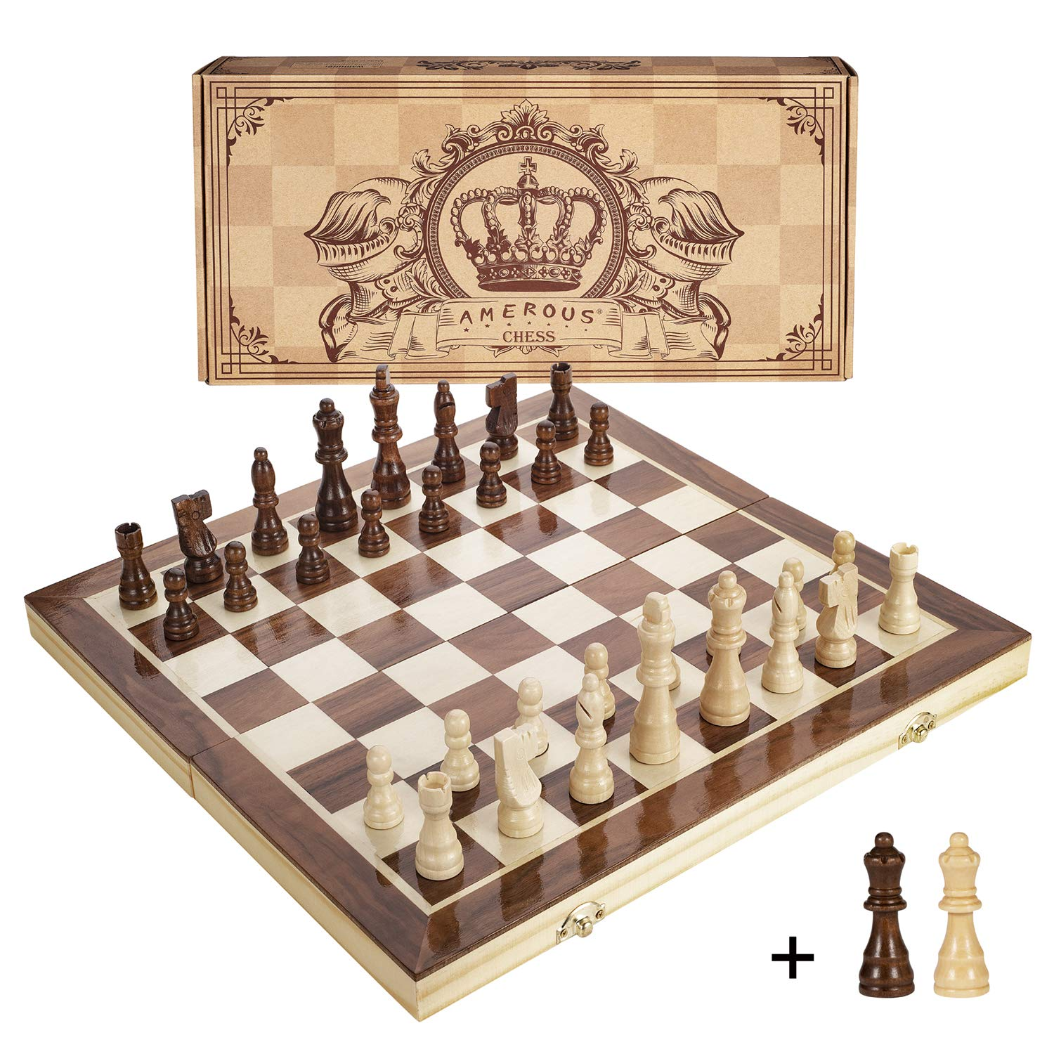 Amerous Inches Magnetic Wooden Chess