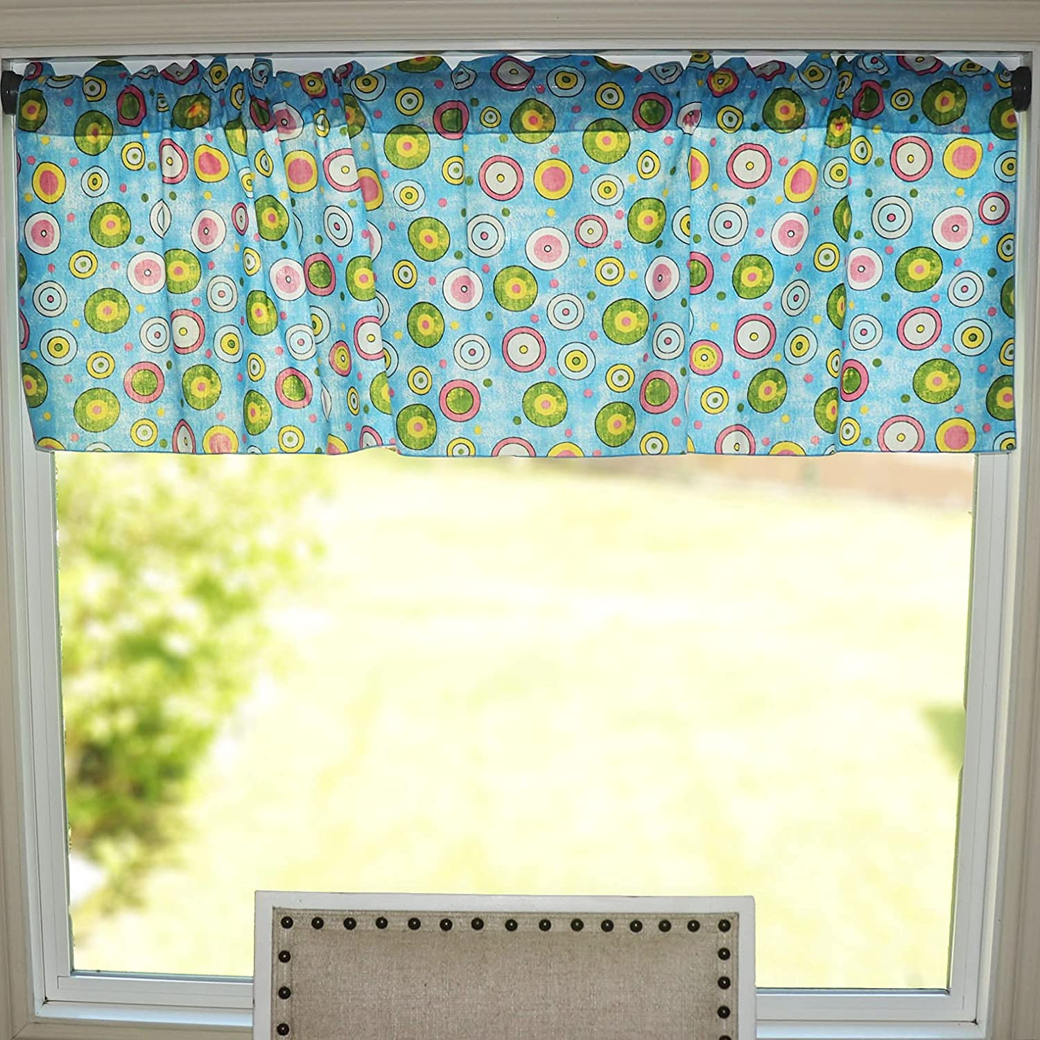 Zen Creative Designs Circles and Valanc Cotton Window Manufacturer regenerated product Polka Long-awaited Dots