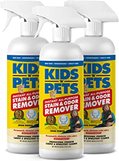 KIDS 'N' PETS – Instant All-Purpose Stain & Odor Remover – Pack of 3-27.05 oz (800 ml) – Proprietary Formula Permanently Eliminates Tough Stains & Odors – Even Urine Odors – Non-Toxic & Child Safe