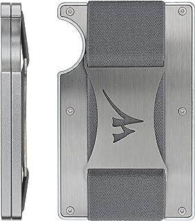 Martrams Stainless Steel RFID Blocking Credit Card Holder Money Clip Wallet