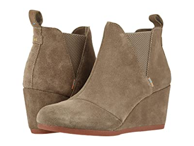 TOMS Kelsey (Taupe Gray Suede) Women