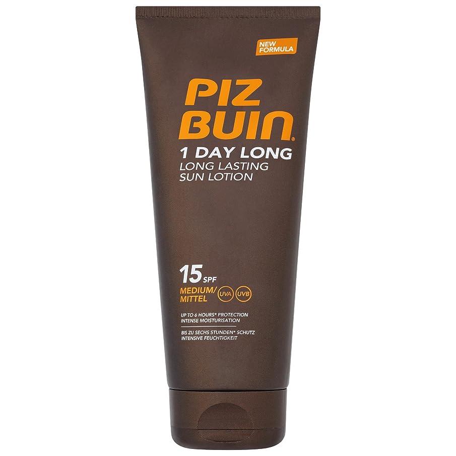ピッツブーインの1日長い15の日焼けローション200 x4 - Piz Buin 1 Day Long SPF15 Sun Lotion 200ml (Pack of 4) [並行輸入品]