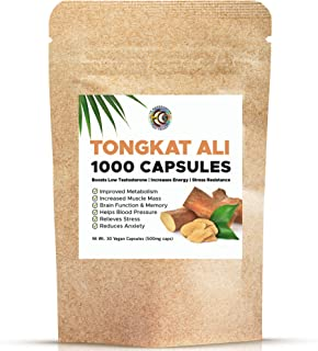 Tongkat Ali Extract Capsules | 30 Vegan Capsules | Superior LongJack | Improved Metabolism and Increase Mus...